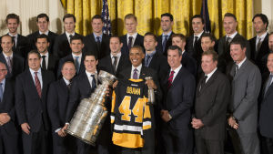 Pittsburgh Penguins besöker Barack Obama 2016.