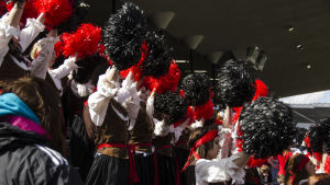 Petalax med svart och rött.