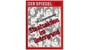 Punaisen armeijakunnan etsintäkuulutetut Der Spiegelin kannessa vuonna 1971
