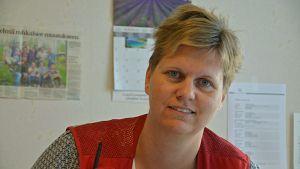 Martina Lindroos, biträdande chef för Röda korsets asylboenden i Johannisberg och Karijärvi i Borgå
