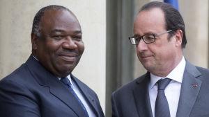 Den forna kolonialmakten Frankrike och andra EU-länder är kritiska och kräver större transparens. Ali Bongo träffade president Francois Hollande i Paris ifjol