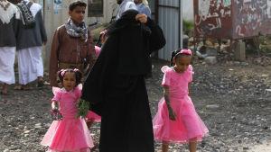Festklädda fickor i Jemen