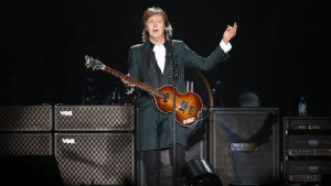 Paul McCartney på en konsert i Chile 2014.
