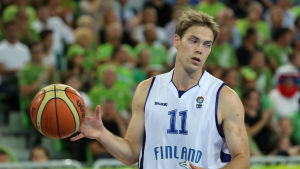 Petteri Koponen vid EM i basket 2013.
