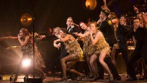 Robbie Williams konsertissa Lontoon Palladiumissa