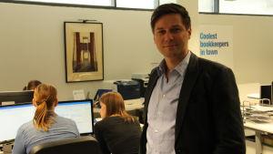Markus Seppänen driver för bokföringsbyrån Profitcount.