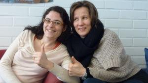 Maria el Said och Mia Friman hjälper långtidsarbetslösa.