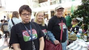 Maria Blomqvist, Heidi Rosenholm och Ann-Christine Ullner vill gärna se ett konstcenter för personer med funktionsnedsättning i Åbo.