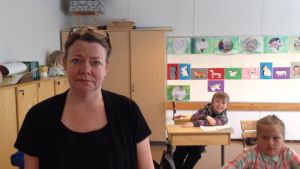 Vice rektor Marie-Louise Sandberg i Österby skola i Raseborg.