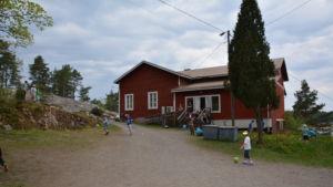 Våno skola är tillfälligt inhyst i Bergvalla föreningshus