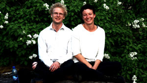 Oskar Pöysti och Maria Ahlroth.