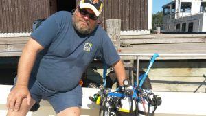 Marinbiologen och dykaren Juha Roope