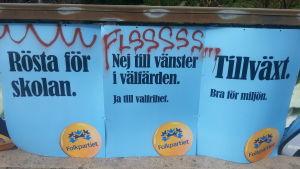 valaffischer i Solna i Sverige