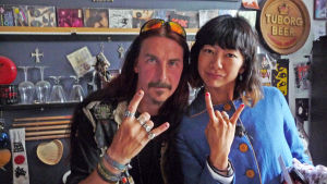 Roger Tullgren och Eri Tsutsumi i programmet The Norden.