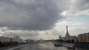 Vy från en bro över Moskvafloden