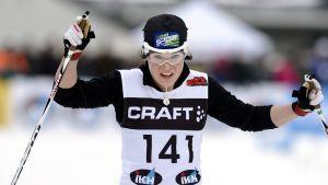 Krista Pärmäkoski snabbast i spåret i Rovaniemi.