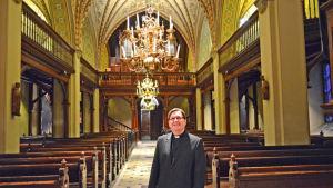 Kyrkoherde Martin Fagerudd i Sankt Lars kyrka.