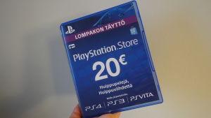 PlayStation Storen lompakontäyttöpakkaus.