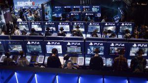 playstation-avdelning på Paris games week.