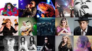 Biild på 15 artister som släpper album 2015.