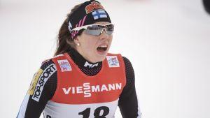 Laura Mononen var tredje snabbast av alla på torsdagen.