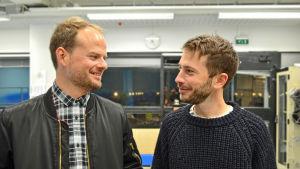 Ville Relander är krögare på Royal ravintolat och Johan Berger är restaurangchef på Chef&Sommelier.
