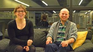 Michaela von Wendt och Calle Lindgren.