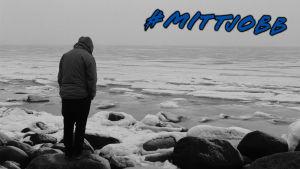 Person som står på strand