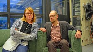 Miivi Selin-Patel är verksamhetsledare för Psykosociala föreningen Sympati  och Kristian Wahlbeck är utvecklingschef för Föreningen för Mental hälsa i Finland.