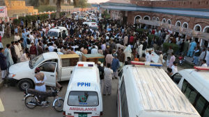 Bombattack mot moské i Pakistan.