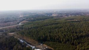 Vy över huvudstadsregionen i mars 2015.