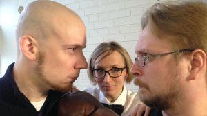 Hippo Taatila ja Timo Hännikäinen nyrkkeilykehässä