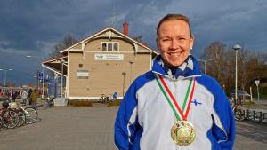 Tanja Lujanen vann EM-guld i taekwandoo 2015.