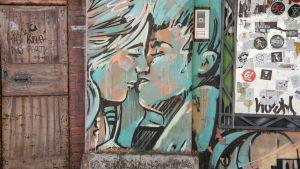 Graffiti i Italien.