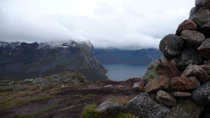 Utsikt från Brosmetinds topp
