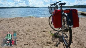 Monica Forssell cyklar Kustrutten