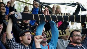SJK-supporters vid match mot VPS 22062015