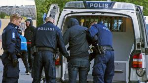 Polisen i Lahtis griper person misstänkt för mot bestämmelserna om explosiva varor