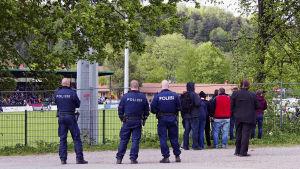 Polisen följer med match i Lahtis