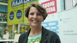 Anne Berner på suomi-areena 16.7.2015.