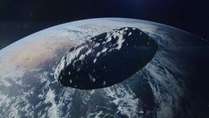 en himlakropp närmar sig jorden