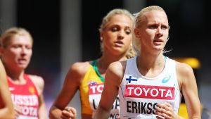 Sandra Eriksson på åttonde plats i sitt heat i Peking.