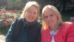 Susanne och Helena tror att folk går till jobbet sjuka på grund av karensdagen.