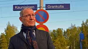 Torsten Widén på Grankulla station.