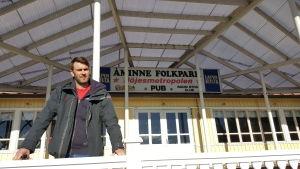 Mikael Antell är ordförande i Åmmine Folkpark