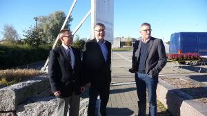Mikael Snellman, Hans-Erik Lindqvist, Bo-Erik Liljedahl