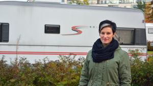 Terhi Paarnio är chef för Rastböle camping som kanske måste flytta snart.