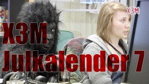 x3m jukalender 7, gorilla, skärmdump