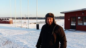 Markus Lindroos vid Skeppsbron i Lovisa