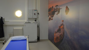 Nyrenoverade jourutrymmen på Jorvs sjukhus.